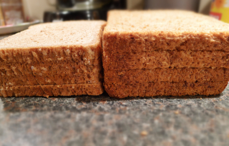 dunne of dikke sneetjes brood